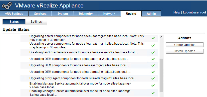 Upgrading vRealize Automation 7.3.x Distributed Deployment to 7.5